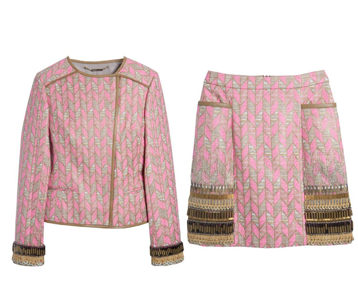 Matthew Williamson Embroidered Mini Skirt and Jacket @ 25Park.com
