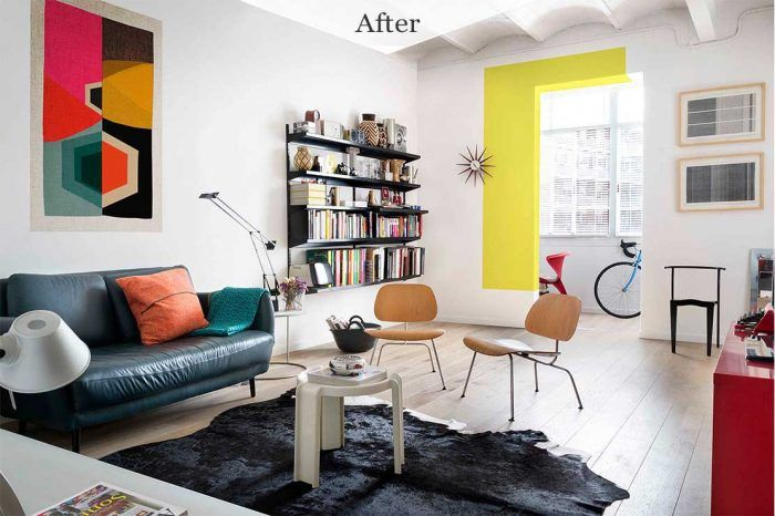 Lounge area - Contemporary family home in Spain, Before and After home tour project by Egue y Seta on NONAGON.style