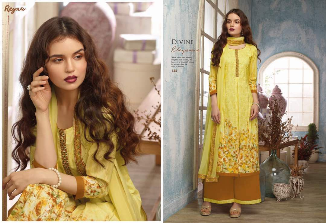 #Designer #Salwar #Suit Collection #DivineElegance Top: Cotton Voile with Digital Print(3.2 meter) Bottom: Cotton 60x60 cambric Dyed(2.5 meter) Dupatta: Bemberg Chiffon(2.3 meter) Work: Embroidery / Digital Stitching Type: Semi-Stitched For inquiry: +91-9624887209 Visit now: https://goo.gl/sESybA
