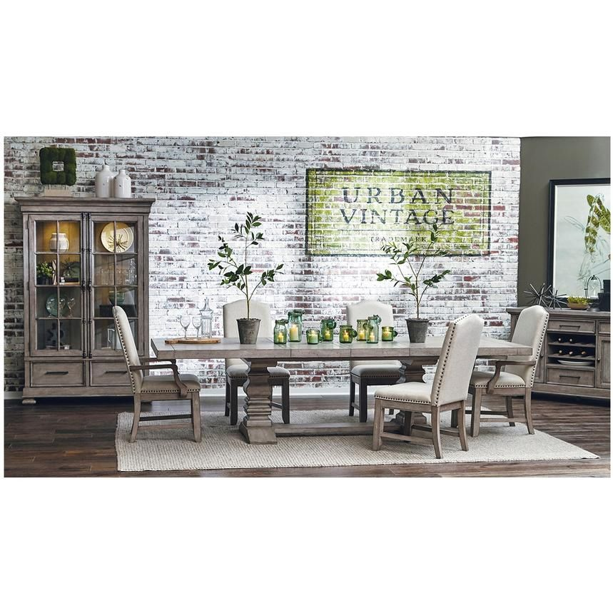 The Prospect Hill Side Chair Is A Beautiful Industrial Addition To The 5 Piece Formal Dining Set Dining Table Extendable Dining Table Rectangular Dining Table