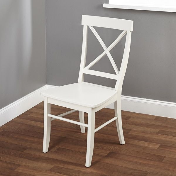 Simple Living Easton Antique White Cross-back Chair   Home: Kitchen and  Dining   Pinterest   White crosses, Simple living and Dining - Simple Living Easton Antique White Cross-back Chair Home: Kitchen