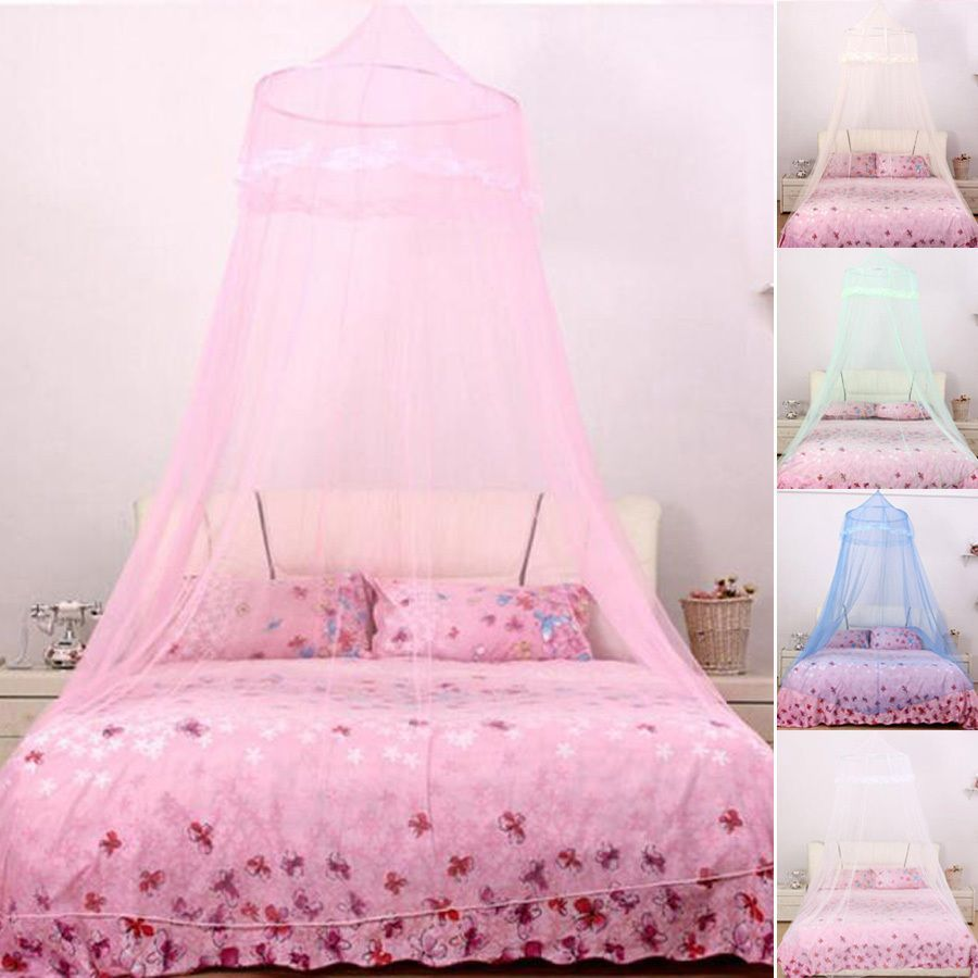 New Excellent Elegant Round Lace Mosquito Nets Bed Canopy Netting Curtain Dome Mosquito Net House Bedding Decor Home Textile Bedding