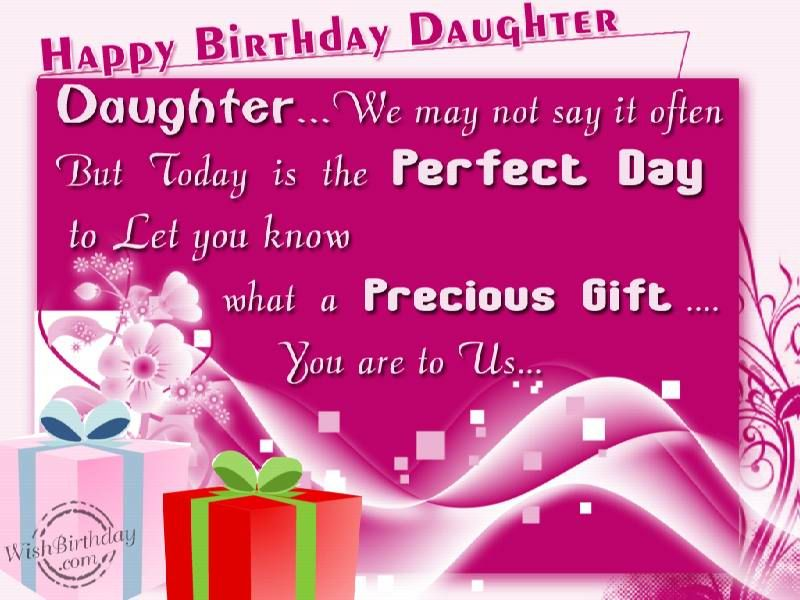 Happy Birthday Special Daughter – Birthday Greetings for a Daughter from Mother