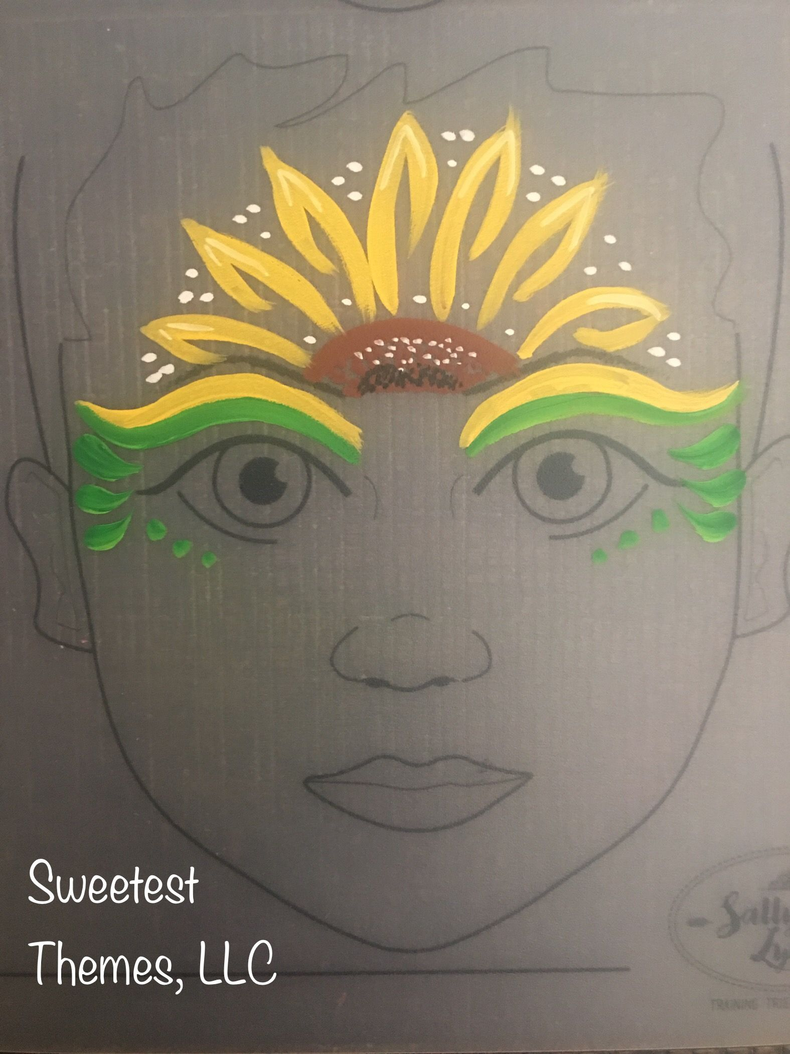 Sunflower Sunset Face Painting Face Painting Halloween Face Painting Face Painting Designs