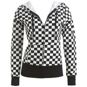 Checker Hoodie - Teen Clothing by Wet Seal