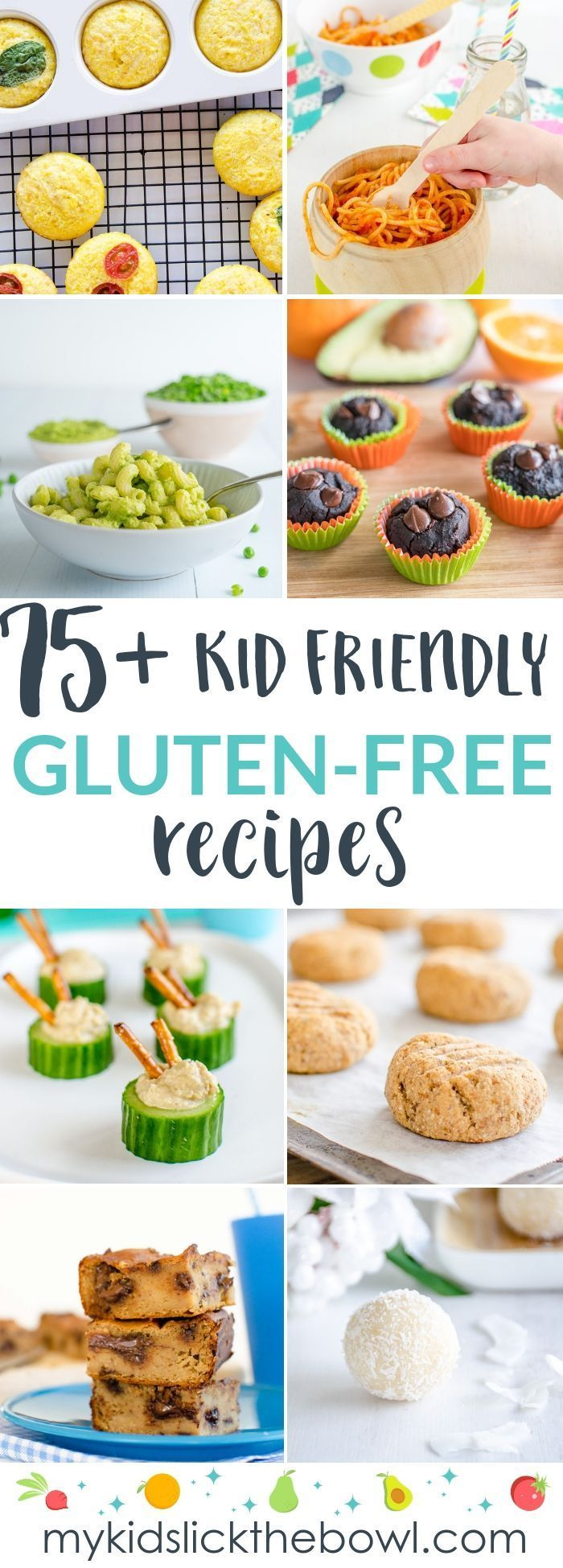 75+ Gluten-Free Recipes - Kid Approved 75+ Gluten-Free Recipes - Kid Approved!!        75 Gluten Free Recipes, muffins, cookies, baking and meals perfect for kids
