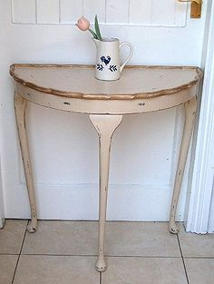Awesome Small 1 2 Moon Table Rescued Made Beautiful Again In One Afternoon,  Furniture Furniture Revivals, Half Moon Table