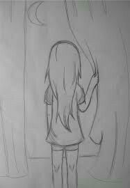 70 Ideas For Drawing Girl Sad Pencil