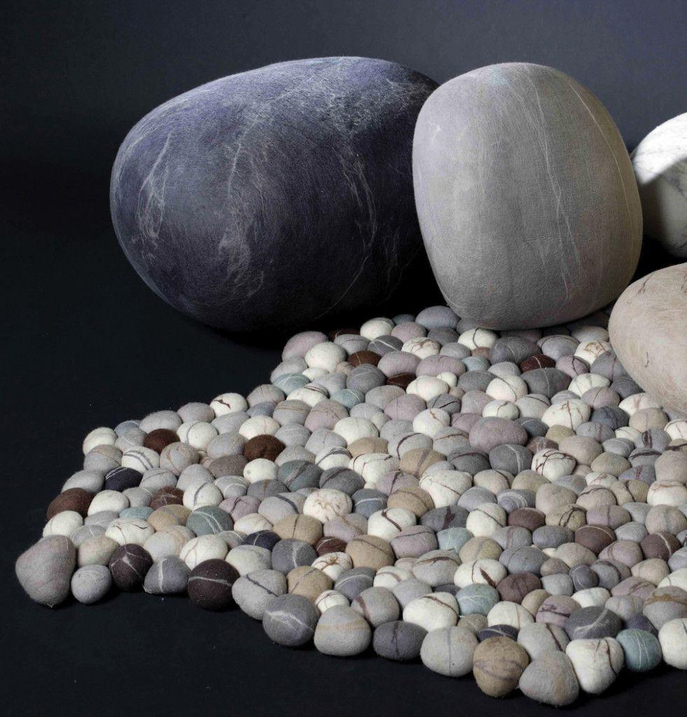 Pebble Carpet Ronel Jordaan Real Rock Cushions