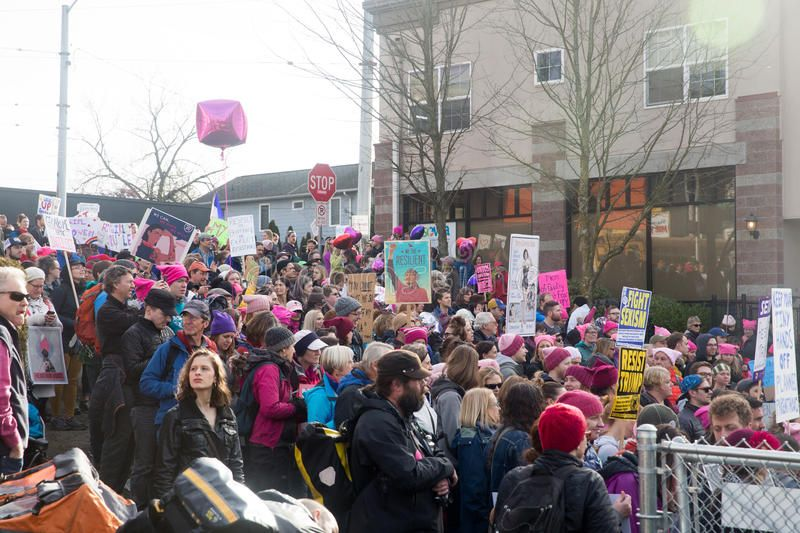 Seattle Million Womens March Men And Women March For Equality And To Protest Th Spon March Men Women Seattle Million Ad Womens March Women Men