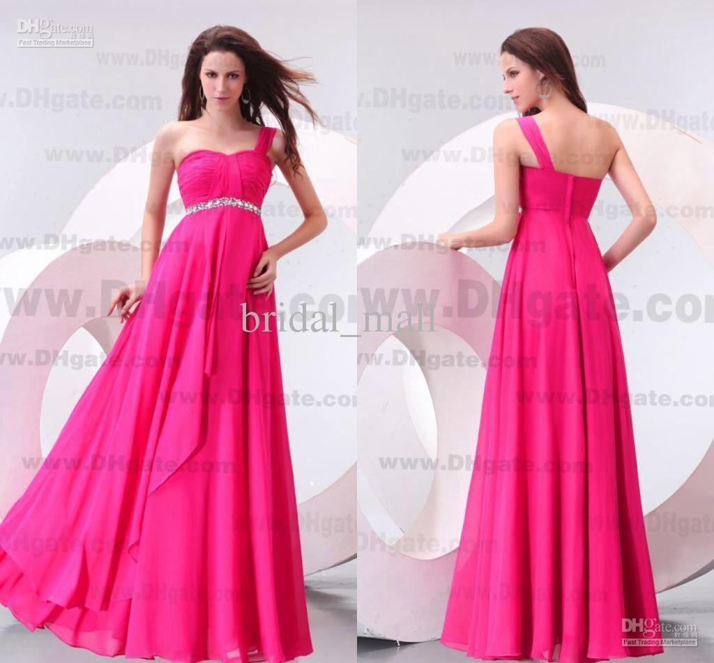 Vestido dama hot pink corto | Vestidos dama Rosa | Pinterest | Damas ...