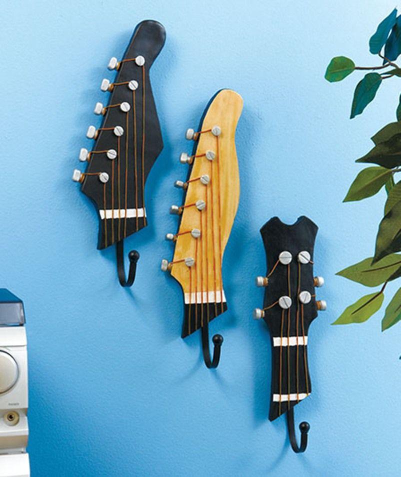 10 Ingenious Repurpose Old Guitar Ideas To Rock Your Room Decoration - Talkdecor #musicdecor