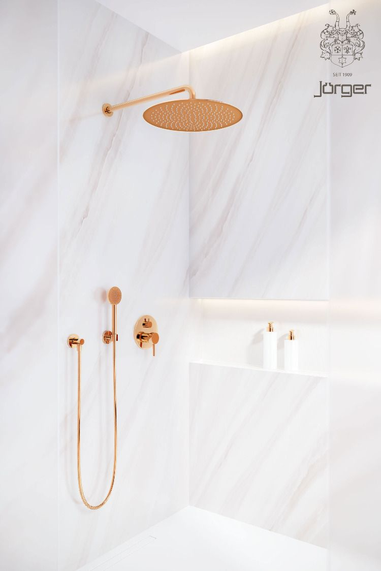 Luxury Shower Combinations With Rainheaven In Rose Gold By Jorger In 2020 Produkt Bad