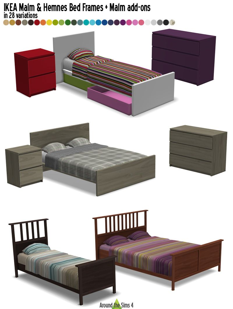 around the sims 4 custom content download ikea malm. Black Bedroom Furniture Sets. Home Design Ideas