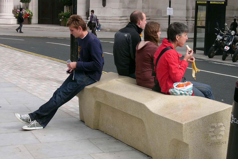 Great Queen Street, Camden Outdoor bench seating