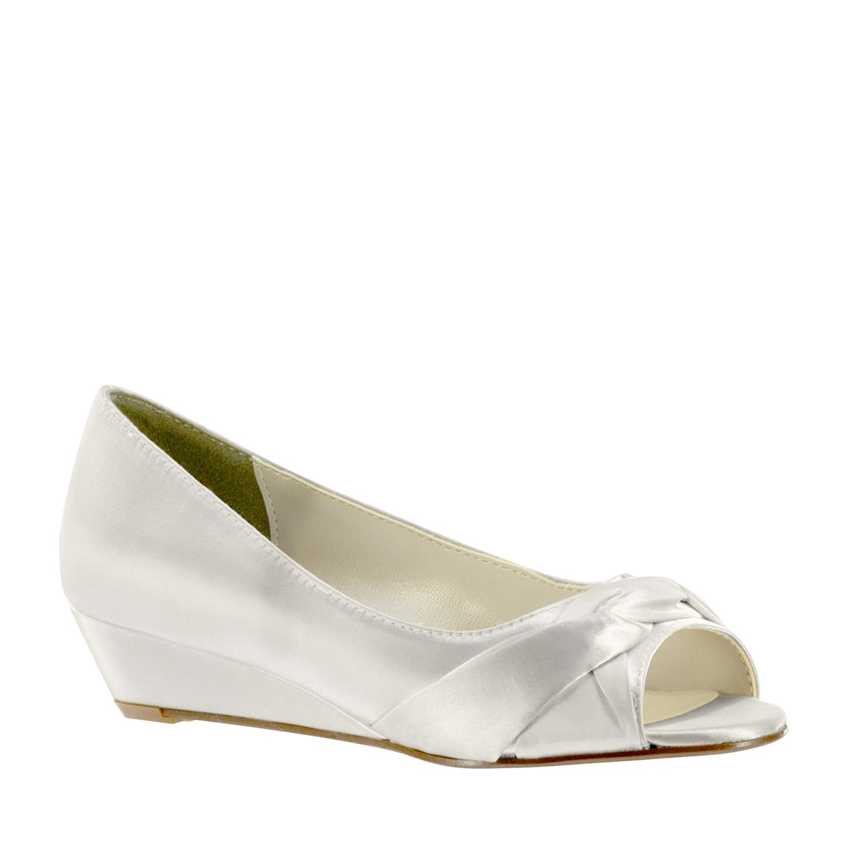 Delish By Touch Ups Bridal Shoes The Is A Dainty P Toe Wedding Wedge Perfect Style For Garden Or Any Uneven Sur