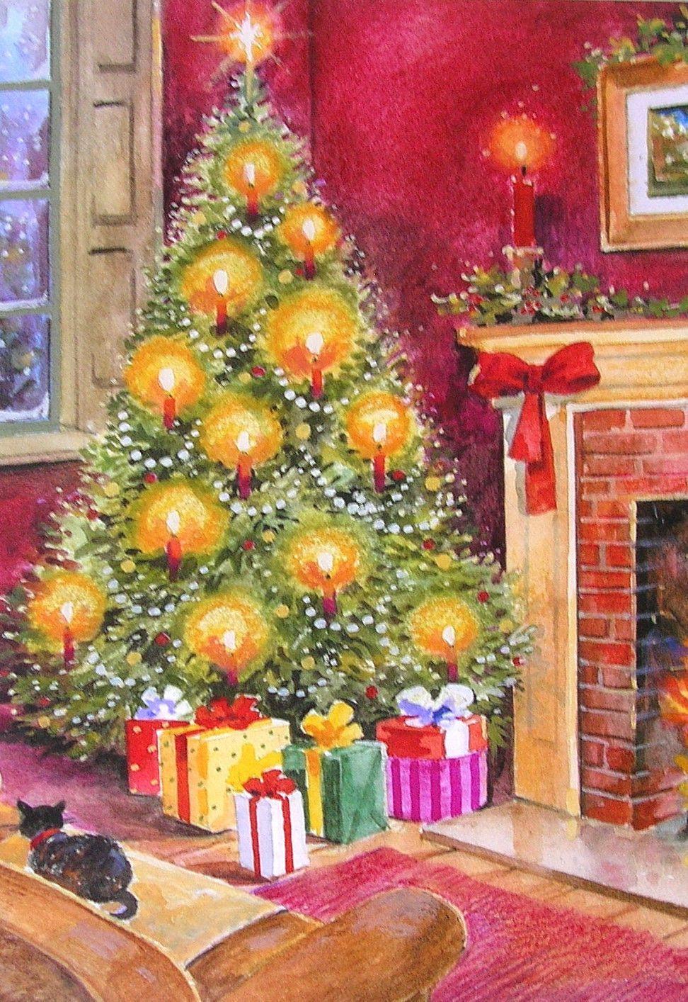 Leanin\' Tree David Underwood Christmas Living Room Pine Gifts Cat ...