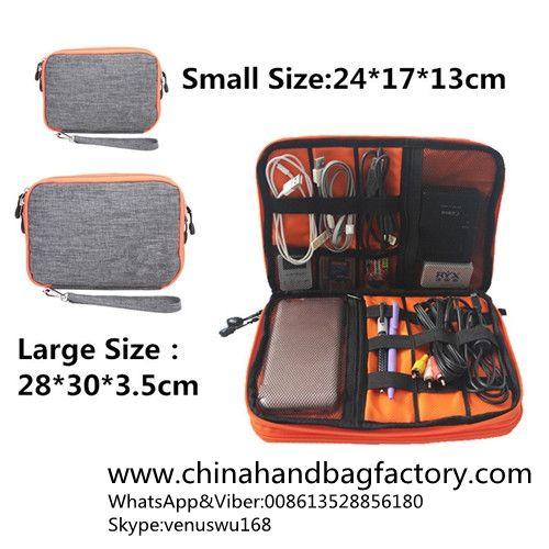 951b6bbd49e3 China USB Earphone Case storage bag factory Electronic Organizer Digital  Organizador Waterproof Double Layer Cable Bags Gadget Travel Bag