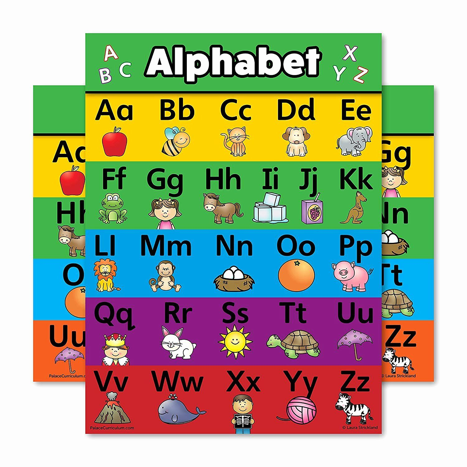 Alphabet Coloring Chart Printable Fresh Abc Alphabet Poster Chart Laminated Double Sided 18 X 24 Alphabet Poster Abc Alphabet Alphabet Coloring