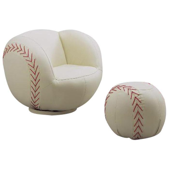 Baseball Chair And Ottoman Nebraska Furniture Mart With Images