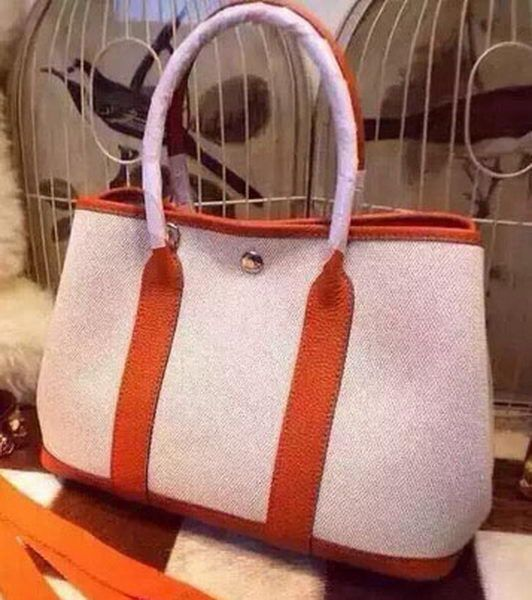 Hermes Garden Party 36cm Tote Bags Canvas HGP1927 Orange  7e68da3e5c1ca