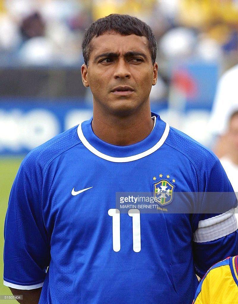 Portrait of Brazilian forward Romario taken 28 March 2001 in