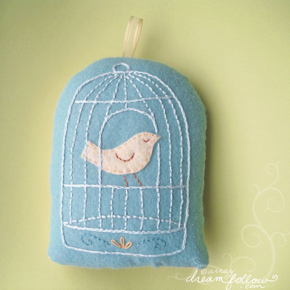 Birdcage pin cushion.