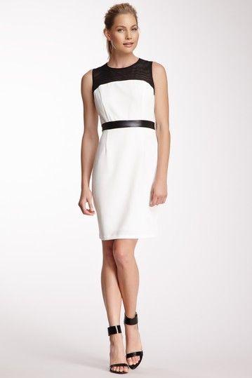 Sandra Darren Mesh Yoke Dress by Non Specific on @HauteLook