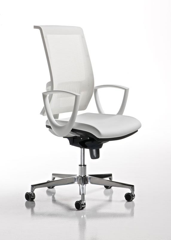 Bürostuhl weiß  Smart weiß, Bürostuhl mit Armlehnen und Räder, Netzkappe | for the ...