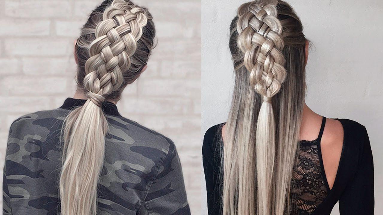 5 Braid Hairstyles: Five (5) Strand Dutch Braid - How To DIY