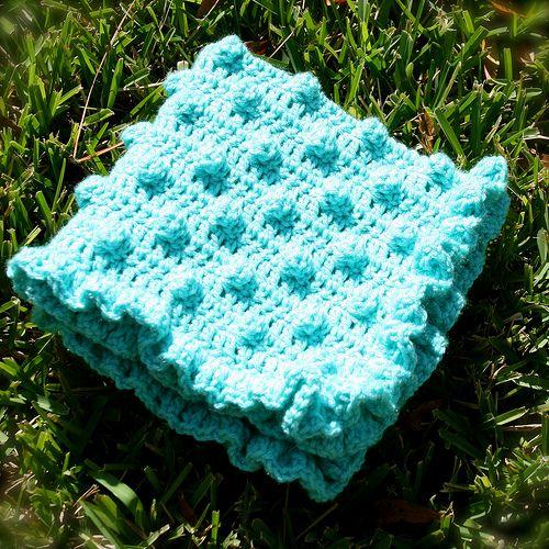 Polka Dots Frills Free Crochet Blanket Pattern Crochet Blankets