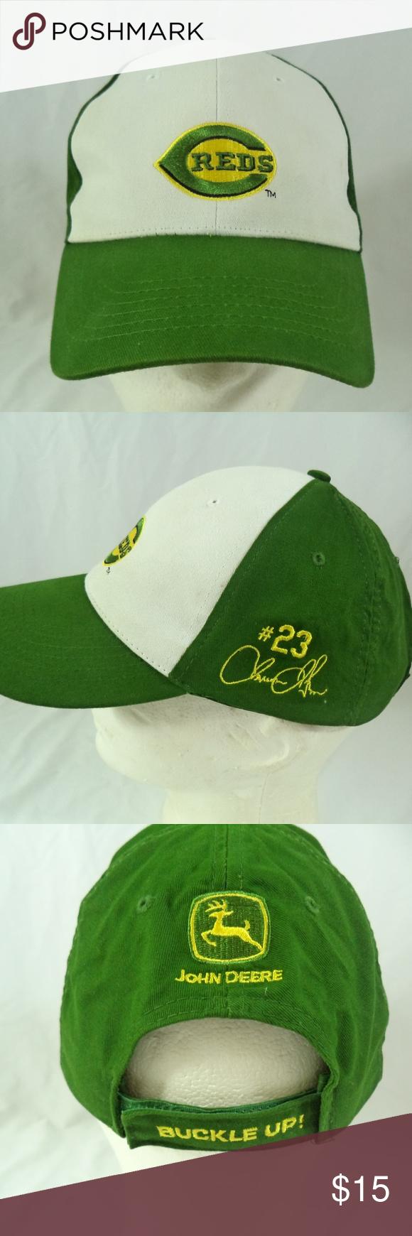 1969aefb364eb Cincinnati Reds John Deere Jason LaRue  23 Cap Hat Super cool cap ...
