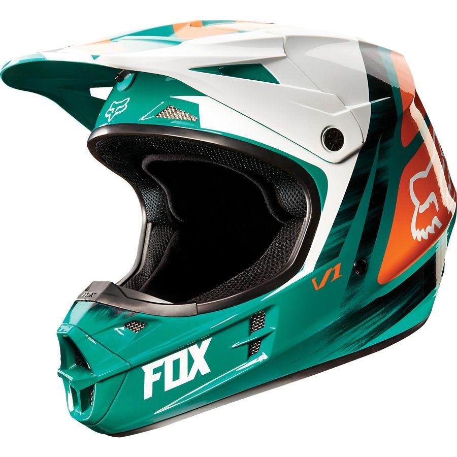 2015 Fox V1 Vandal Youth Mx Motocross Helmet Theme Modern