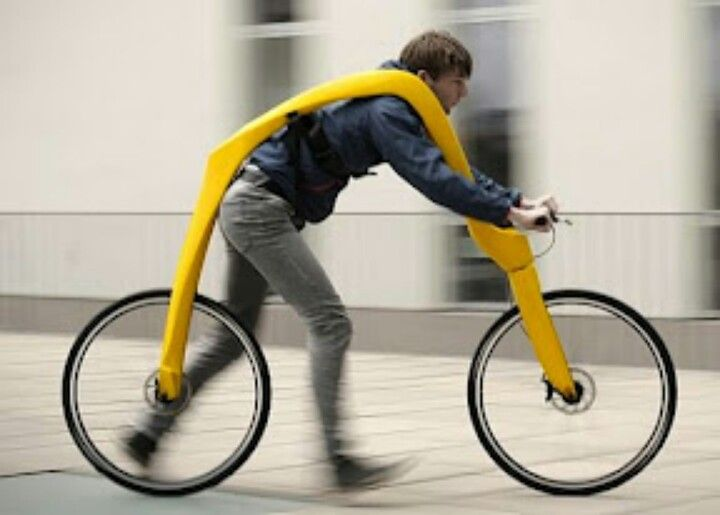 Bike Without Seat Or Pedals Apparently A Very Smooth Floating