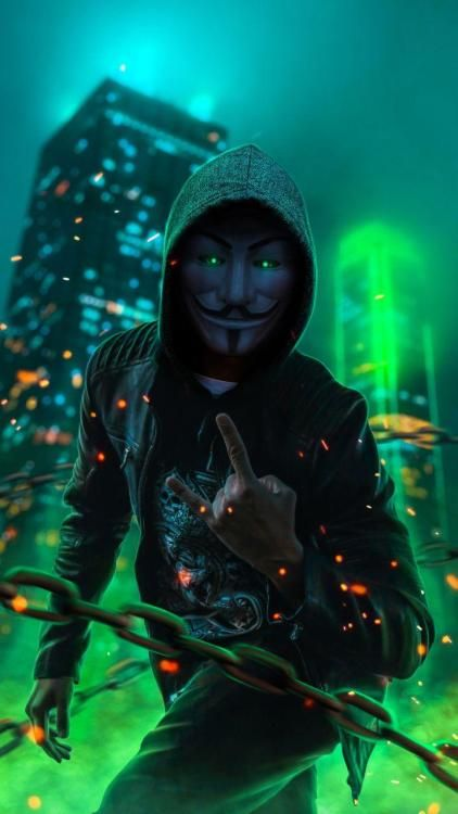 Anonymus Guy Glowing Eyes Green Neon in 2020 | Man ...