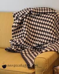 Image result for houndstooth crochet afghan