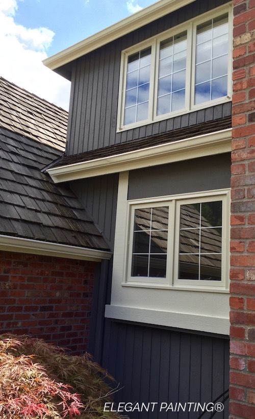 Siding color: Gauntlet Gray SW7019 Siding Product: Sherwin Williams ...