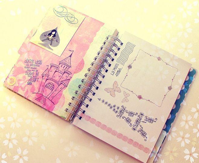 Cuadernos decorados por dentro buscar con google libretas y cuadernos pinterest - Como decorar una agenda ...