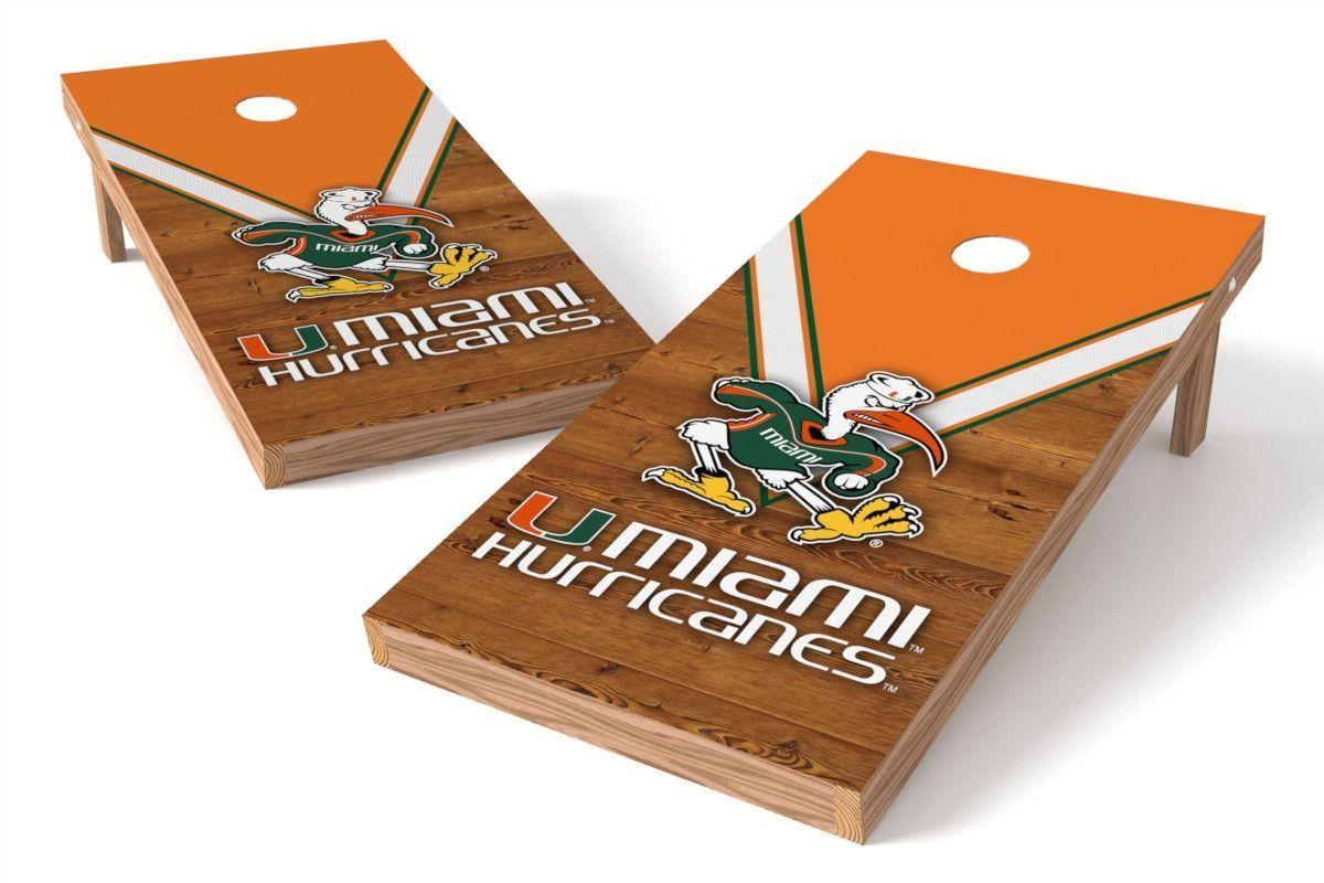 Miami Hurricanes Cornhole Board Set - Uniform