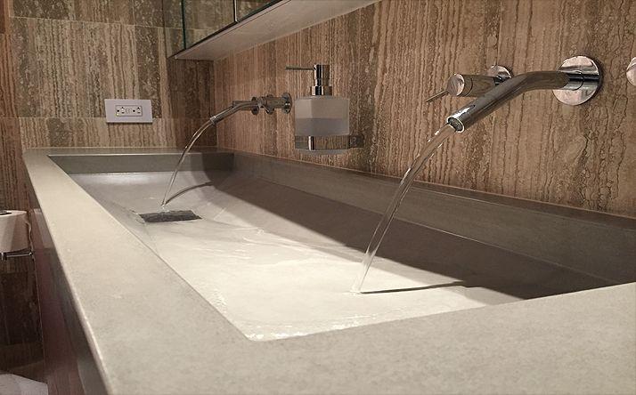 Custom Concrete Bathroom Sinks - Trueform Concrete Modern Kitchen
