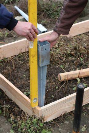Einfaches Hochbeet Selber Bauen Einschlagbodenhuelsen Ausrichten