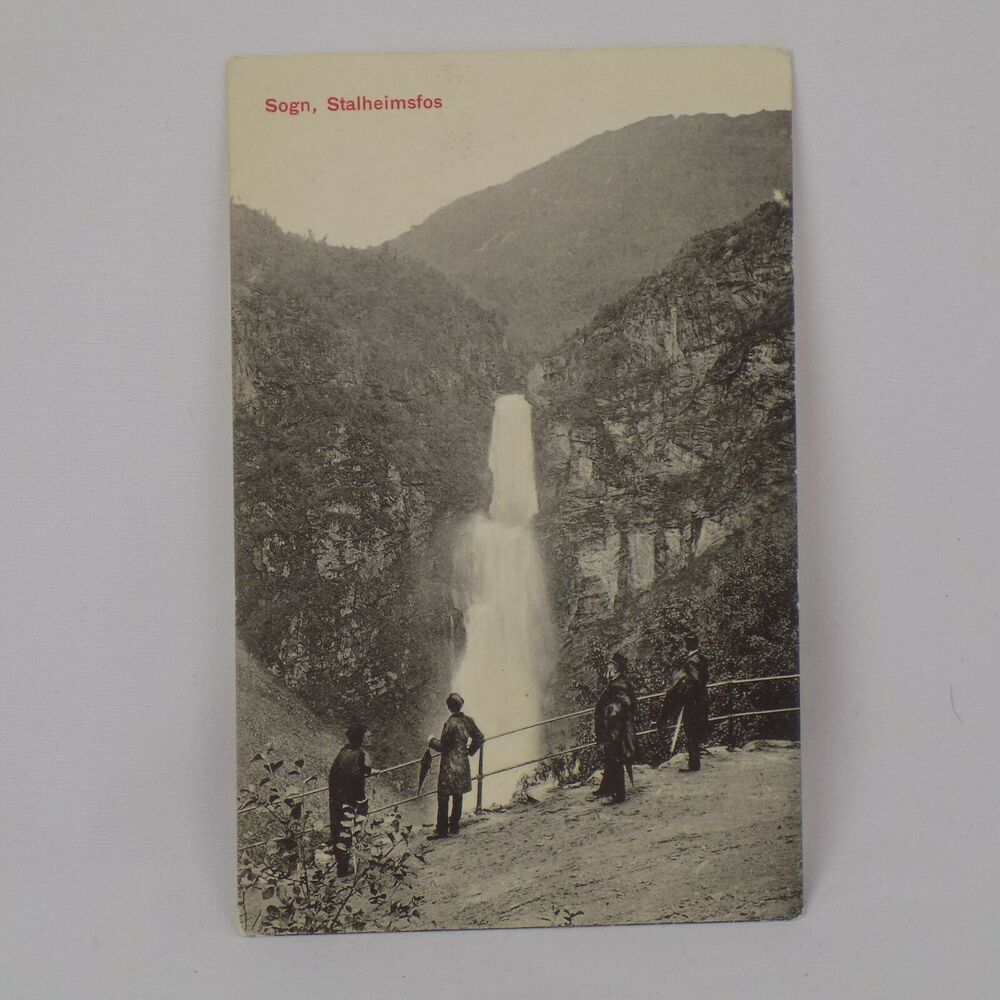 Sogn Stalheimsfos Norway Postcard 5 1 2 X 3 Lithograph