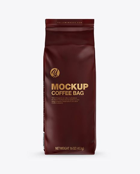 Download Download Matte Coffee Bag Mockup Front View... | Bag ...