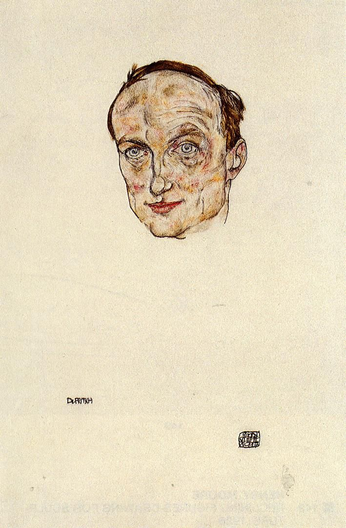 Head of Dr. Fritsch * 1917 Egon Schiele,