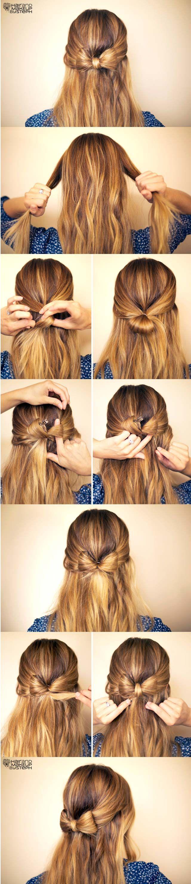 Cute hairstyles for women cute hair pinterest hair bow
