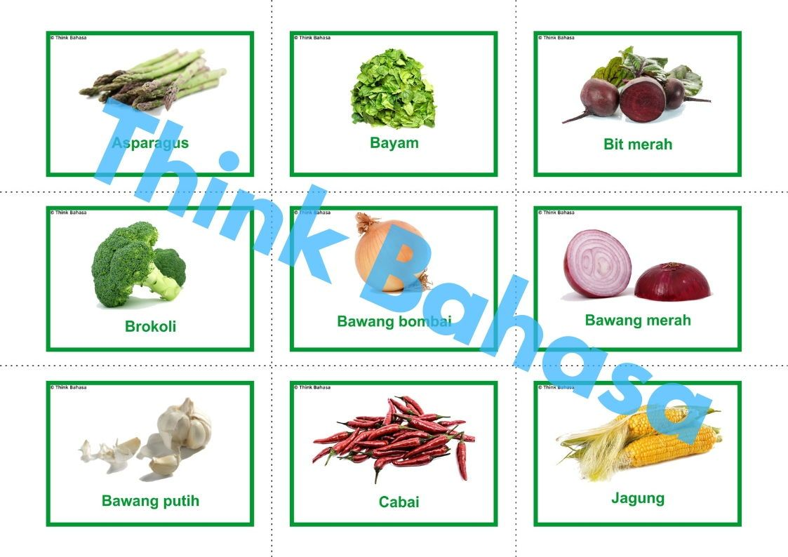 Vegetables In Indonesian
