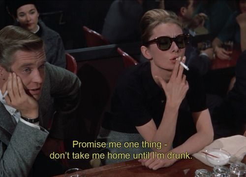 Don't take me home until I'm drunk...