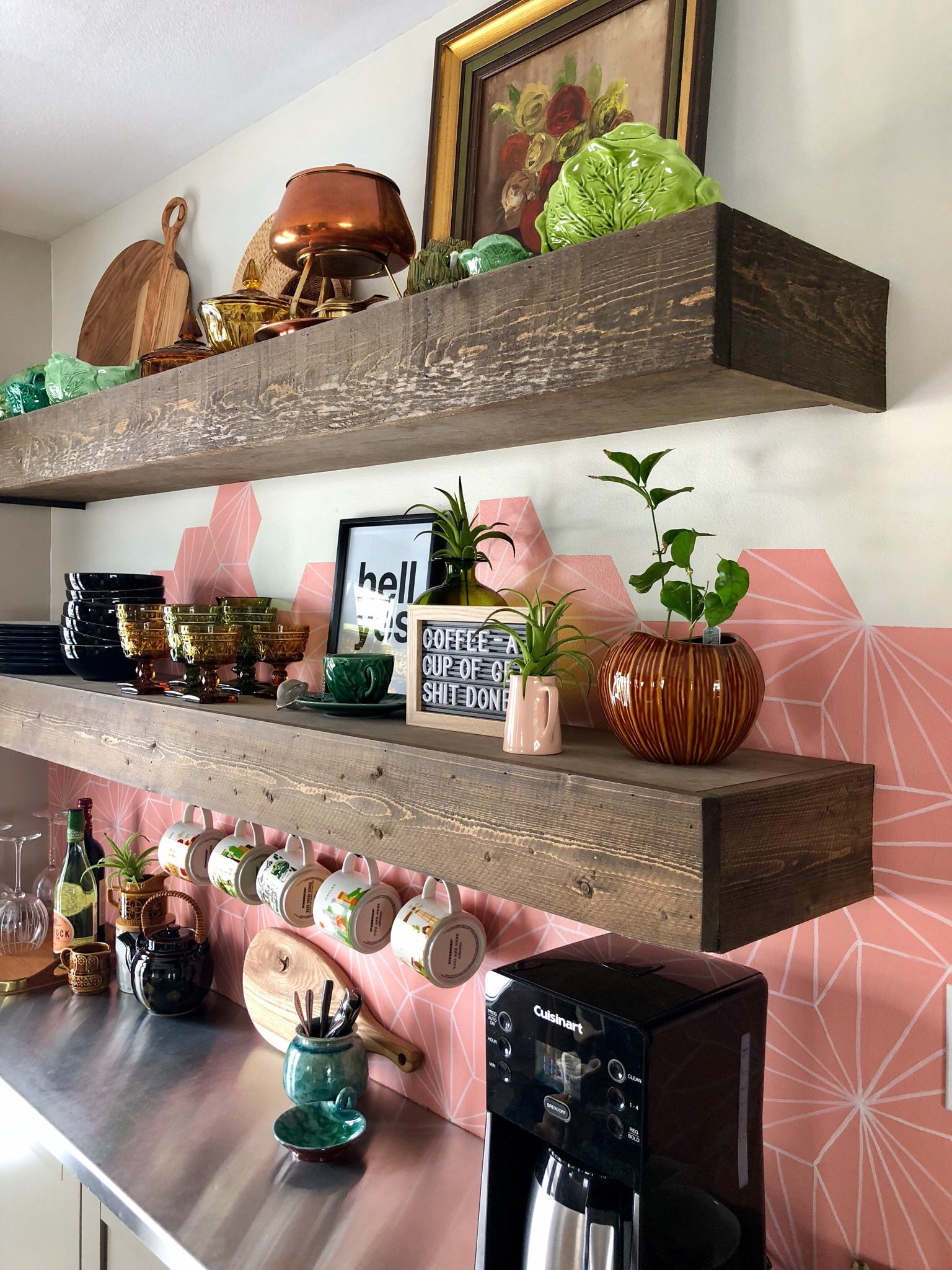 how to bring a pop of pink into your coffee kitchen space pink kitchen inspiration on kitchen decor pink id=15722