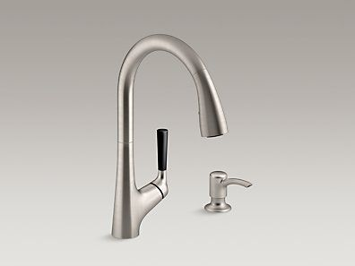 Kohler K R562 Sd Vs Malleco Pull Down Kitchen Sink Faucet With