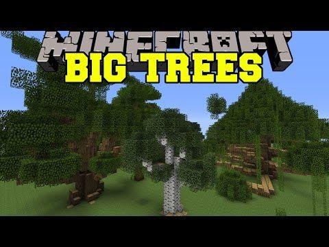 Minecraft Big Trees More Trees And Giant Sizes Mod Showcase Youtube Big Tree Minecraft Mini Games